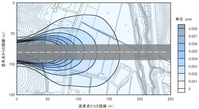 トンネル部大気平面予測結果